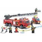 Camionul de Pompieri cu rampa, 607 piese si 5 figurine, Fire Rescue 908