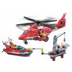 Echipa de Interventie pe Mare, 404 piese si 3 figurine, Fire Rescue 905