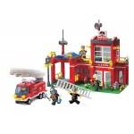 Statia de Pompieri, 380 de piese si 5 figurine, Fire Rescue 910