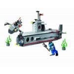 Submarinul de atac, 382 de piese si 4 figurine, Combat Zones 816
