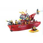 Vaporul mare de Pompieri, 361 de piese si 6 figurine, Fire Rescue 909