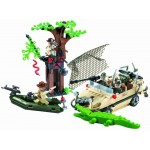 Ambuscada in Jungla, 272 de piese si 4 figurine, Combat Zones 813