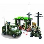 Atacul asupra Bazei din Jungla, 285 de piese si 7 figurine, Combat Zones 809