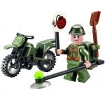 Motocicleta Genistului, 19 piese si 1 figurina, Combat Zones 829