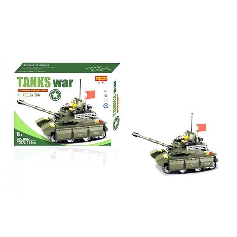 Tancul de razboi, 169 piese si 1 figurina, Military Series 91009