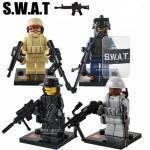 Echipajul de Politie SWAT, minifigurine cu echipament militar