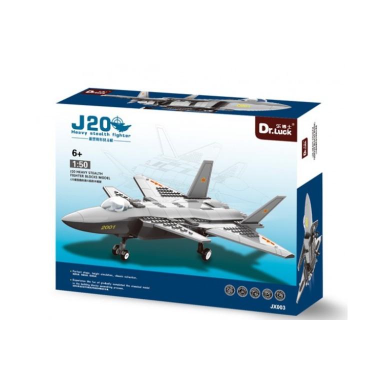 Avion de lupta J-20, 290 de piese, scara 1:50, Model Series JX003