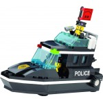 Barca Rapida a Politiei, 95 de piese si 2 figurine, Police Series 130