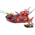 Salupa Rapida de Interventie, 340 de piese si 4 figurine, Fire Rescue 906