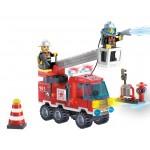 Camionul mic de Pompieri, 130 de piese si 2 figurine, Fire Rescue 903