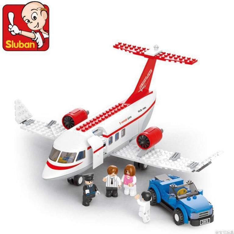 Avionul Privat, 275 piese si 4 figurine, Sluban B0365