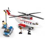 Elicopterul Privat, 259 piese si 3 figurine, Sluban B0363