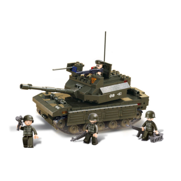 Tanc cu soldati, 312 piese si 4 figurine, Sluban B6500